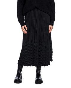 Selected Femme Kjol Una Plisse Black