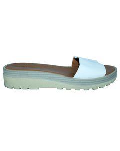 White Slip On Sandals