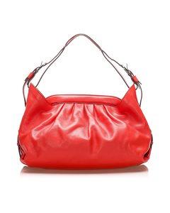 Fendi Borsa Doctor Leather Shoulder Bag Red