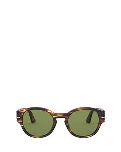 Po3230s Brown & Yellow Tortoise Solglasögon