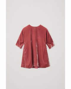 Nylon-silk Mix Ruched Panel Dress Dusty Pink