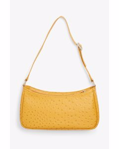 Small Hand Bag Faux Ostrich