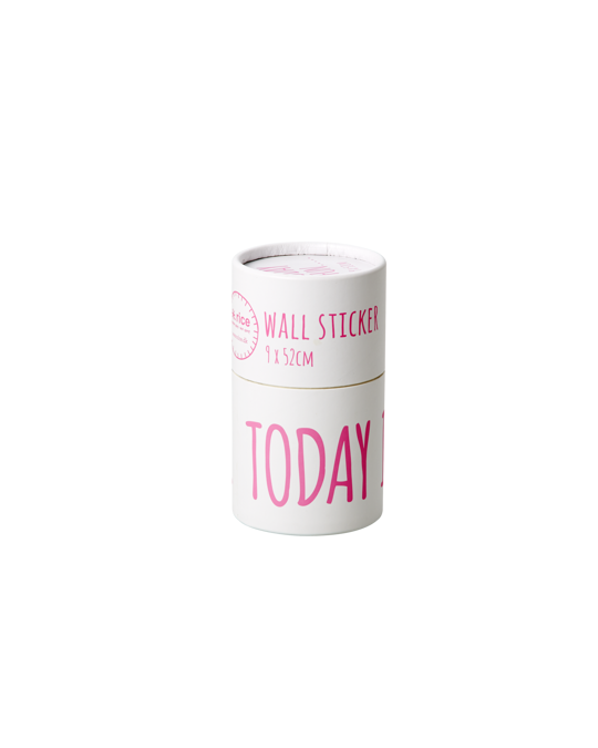 Rice by Rice Wallsticker - Today Is Fun Neon Pink Neon Pink