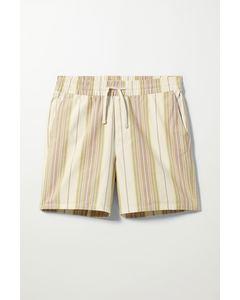 Olsen Striped Shorts White & Beige