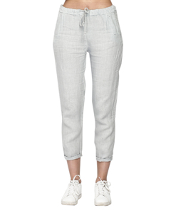 Pure Linen Trousers With Elasticated Waist