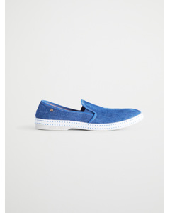 Perforated Slip On Shoes Blue
