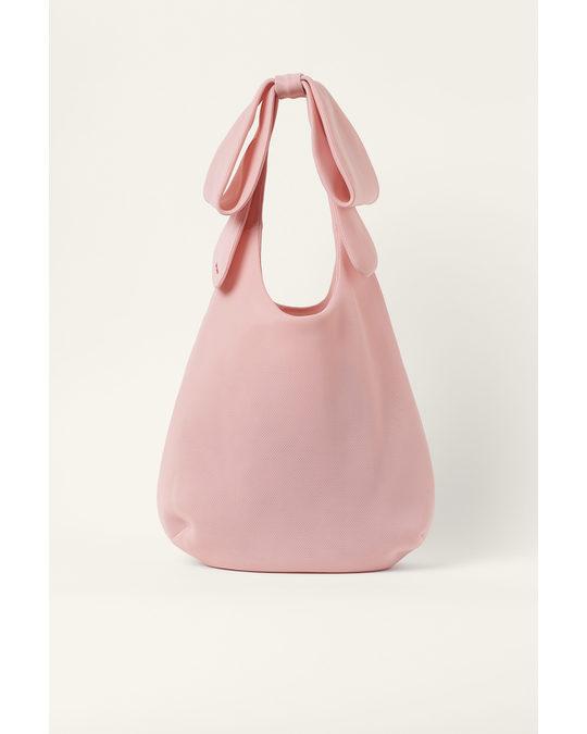 H&M Large Bow-detail Shopper Light Pink