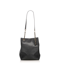 Chanel Triple Coco Leather Tote Bag Black