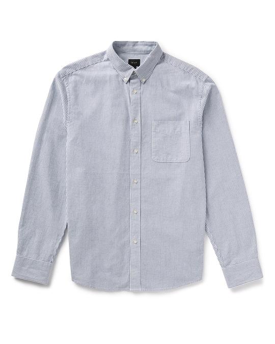 MVP Mvp Ellsworth Oxford Stripe Shirt - Indigo