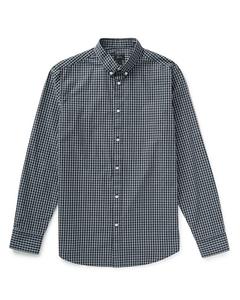 Mvp Burwell Small Scale Poplin Check Shirt - Navy