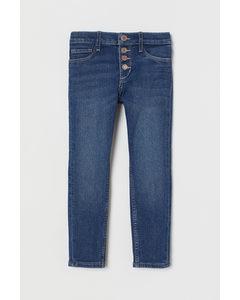Skinny Fit Stretch Jeans Dunkelblau