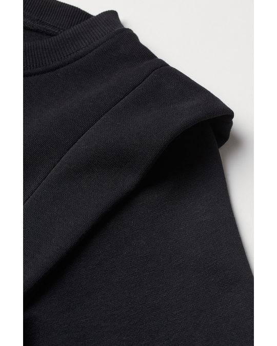 H&M Fitted Sweatshirt Dress Black