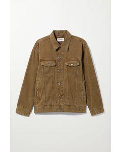 Oversized-Jacke Milton mit Washed-Effekt Khakibraun