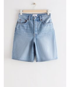 Spark Cut Jeans-Shorts Aquamarinblau