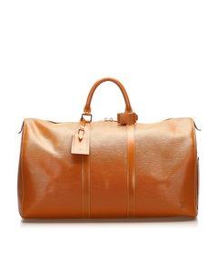 Louis Vuitton Epi Keepall 55 Brown