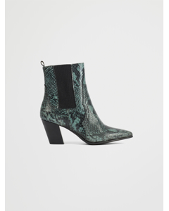 Biaceleste Leather Boot Dark Green