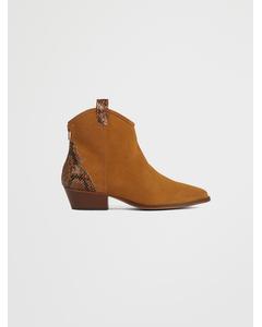 Biadaya Western Suede Boot Light Brown