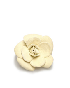 Chanel Camellia Brooch White