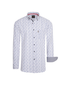 Cappuccino Italia Regular Fit Overhemd Wit Dotted Wit