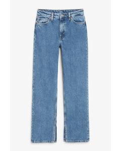 Side Slit Jeans Vintage Mid-blue