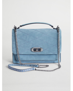 Je Taime Medium Crossbody Dusty Blue Silver
