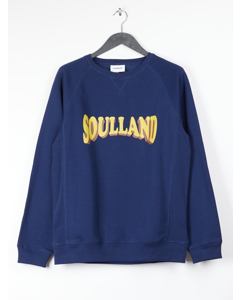 Aw18 Hockney Sweat W. Logo Print - Navy