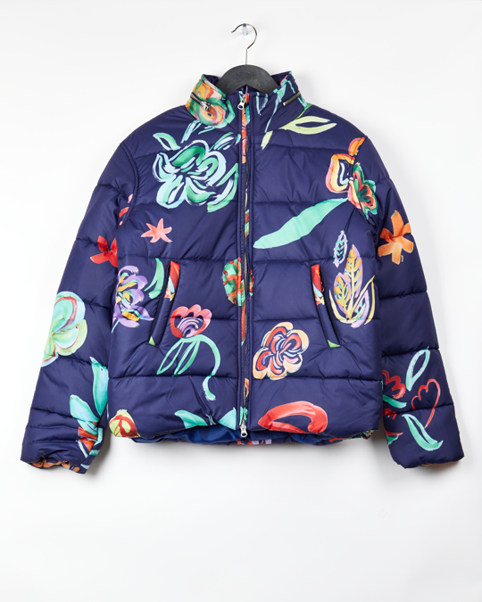 Soulland Aw18 Chambers Puffer Jacket W. All Over Print - Multi