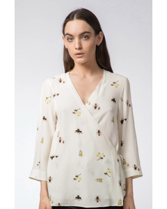Hina Insect Blouse Off-white