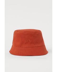 Solhatt I Bomull Mörk Orange/la