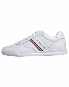 Tommy Hilfiger Lightweight Leather Sneaker White Wit