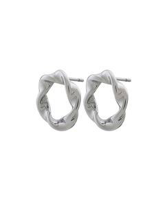Swirl Örhängen Steel