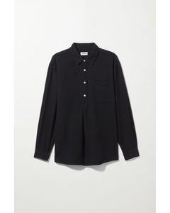 Luc Popover Shirt Black
