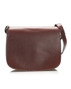 Cartier Must De Cartier Leather Shoulder Bag Red