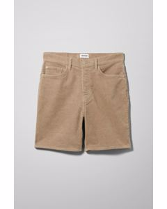Vacant Cord Shorts Light Brown