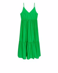 Trägerkleid aus Popeline Hellgrün