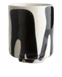 Terracotta Cups Black/off White