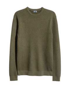 Cotton-blend Jumper Green