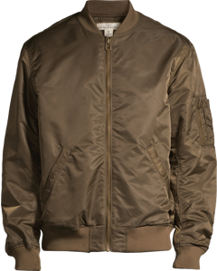 Padded Bomber Jacket Green