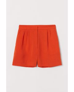 Shorts High Waist Orange