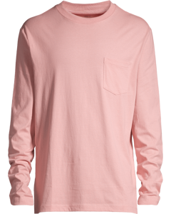 Long-sleeved Top Loose Fit Pink