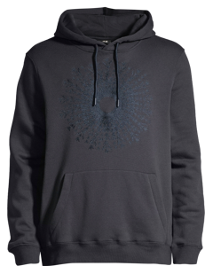 Hooded Top With Embroidery Blue