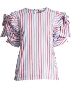 Striped Blouse White