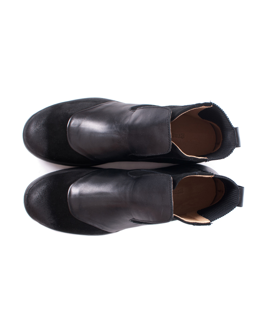 GRAM 377g Black Waxed Suede Black Leather
