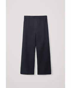 Straight Loose Trousers Navy