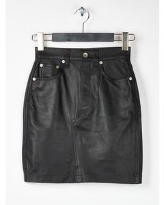 Dive Skirt Black Lthr