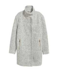 Wool-blend Coat Grey