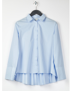 Pleated Shirt Blue