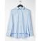 Plissierte Bluse Hellblau