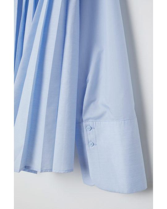 H&M Plissierte Bluse Hellblau