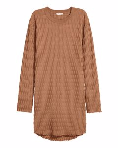 Textured-knit Jumper Beige
